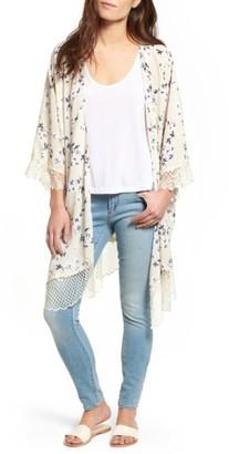 Women's Lucca Couture Lace Trim Kimono $69 thestylecure.com