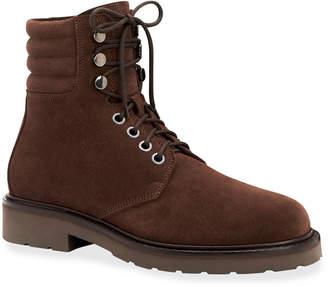 Aquatalia Men's Heath Waterproof Suede Lace-Up Boots