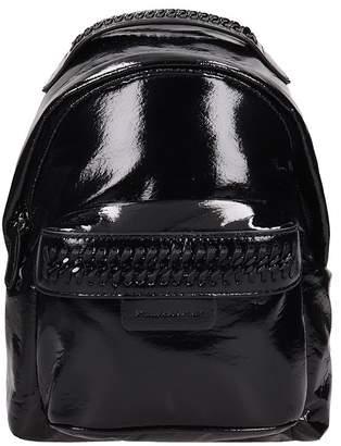 Stella McCartney Black Eco-leather 'falabella' Backpack