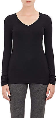 ATM Anthony Thomas Melillo Women's Rib-Knit Long-Sleeve T-Shirt - Black