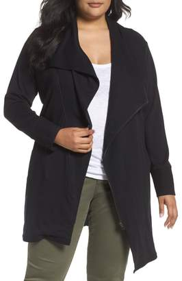 Caslon Asymmetrical Zip Long Cardigan