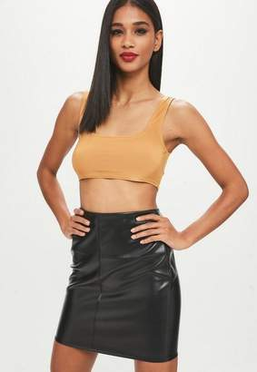 Missguided Yellow Scoop Neck Slinky Bralette
