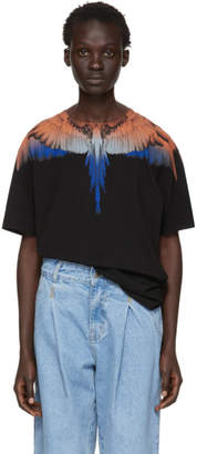 Marcelo Burlon County of Milan Black and Orange Wings T-Shirt