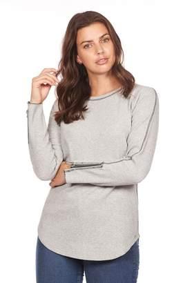 FDJ French Dressing Grey Zipper Top