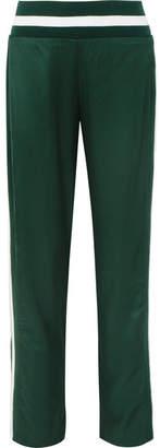 Maggie Marilyn - Trailblazer Stripe-trimmed Satin-jersey Track Pants - Dark green