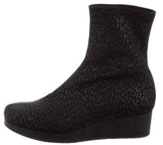 Robert Clergerie Clergerie Paris Leopard Neoprene Ankle Boots
