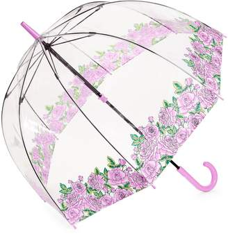 Fulton Butterfly and Bird Clear Walking Umbrella