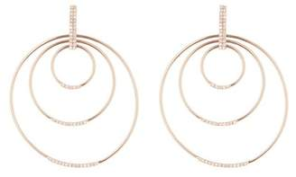 Ef Collection 14K Rose Gold Diamond Pave Multi-Hoop Earrings - 0.29 ctw