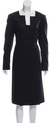 Akris Long Sleeve Midi Dress