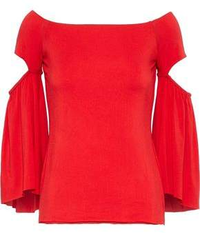 Bailey 44 Off-The-Shoulder Cutout Stretch-Knit Top