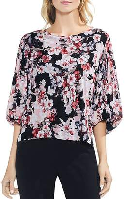 Vince Camuto Timeless Blooms Mesh Top