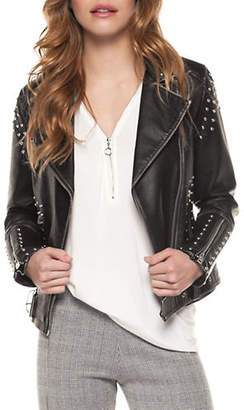 Moto DEXED OUT Faux Leather Studded Jacket