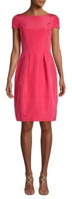 Oscar de la Renta Bow Silk Fit-and-Flare Dress