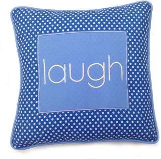 One Grace Place 10-18b030LAUGH Simplicity Blue-Decorative Pillow-Laugh
