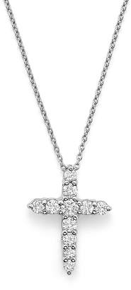 Roberto Coin 18K White Gold Cross Pendant Necklace with Diamonds, 16