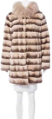 Glamour Puss Glamourpuss Fox-Trimmed Fur Coat w/ Tags