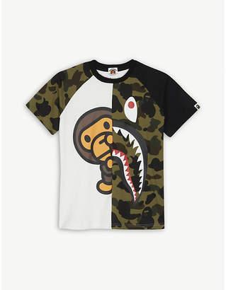 A Bathing Ape Camo Shark cotton T-shirt 4-8 years