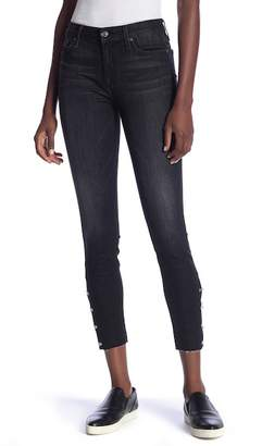 7 For All Mankind Ankle Skinny Metal Ring Jeans