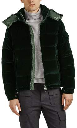 Moncler Men's Down-Quilted Velvet Puffer Jacket