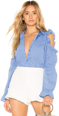 BCBGeneration Puff Sleeve Button Down
