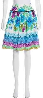Tibi Printed Knee-Length Skirt