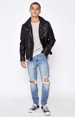 Pacsun Stacked Skinny Vertical Stretch Destroy Medium Jeans