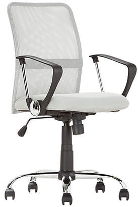Argos Home Grey Mesh Mid Back Adjustable Office Chair