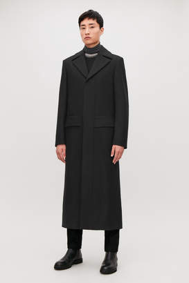 Cos LONG WOOL COAT WITH BELT