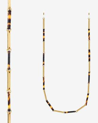 Express Tuleste Resin & Metal Bar Eyewear Chain