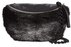 Nancy Gonzalez Crocodile and Fur Belt Bag/Fanny Pack