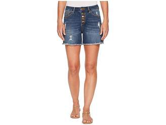 Jag Jeans Jules High-Rise Cut Off Denim Shorts in Thorne Blue Women's Shorts