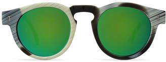 Illesteva Leonard Horn with Green Mirrored Lens