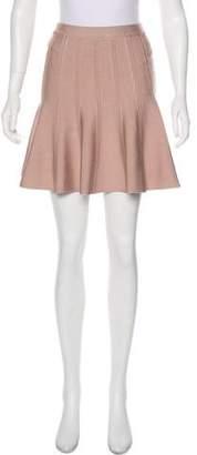 Herve Leger Sabine Flare Mini Skirt
