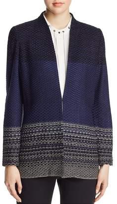 Misook Textured-Pattern Jacket