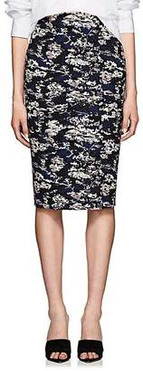 Victoria Beckham Women's Abstract Cotton-Blend Jacquard Pencil Skirt - Bright Blue-Pale Pink
