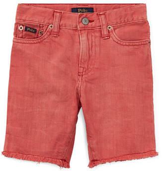 Ralph Lauren Raw-Hem Denim Shorts, Size 2-4