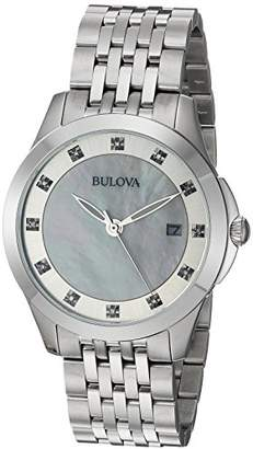 Bulova Women's Quartz Stainless Steel Casual Watch, Color:Silver-Toned (Model: 96P174) $243.75 thestylecure.com