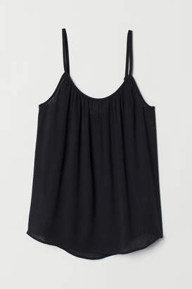 H&M Crinkled Camisole Top - Black