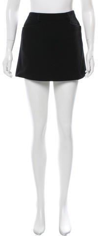 Miu MiuMiu Miu Virgin Wool Mini Skirt