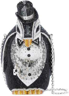 Judith Leiber Alfred Penguin Crystal Clutch