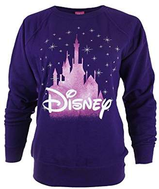 Disney Women Castle Sweatshirt, Purple, (Manufacturer Size: Medium)