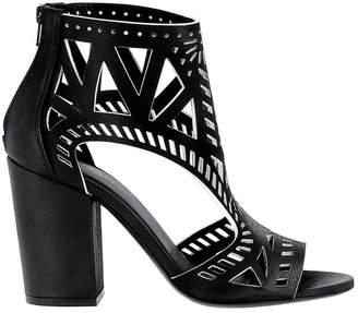 Elena Iachi Black/white Leather Sandals