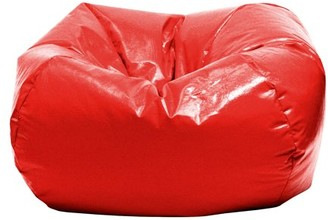 "Gold Medal Bean Bags GOLD MEDAL Bean Bag, Glossy Vinyl, Small 105"", Lipstick Red"