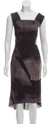 Victor Alfaro Printed Midi Dress