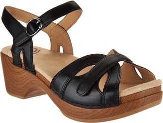 Dansko Leather Adjustable Sandals - Season
