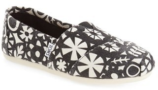 Women's Toms 'Classic' Printed Wool Slip-On $58.95 thestylecure.com