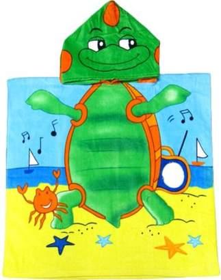 Kreative Dancing Beach Turtle Kids Hooded Bath Towel