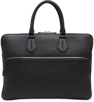 Bally Pebbled Leather Laptop Briefcase
