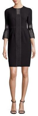 Elie Tahari Mallory Bell Sleeve Lace Dress $448 thestylecure.com