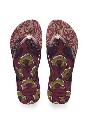 Havaianas Women's Slim Flip Flop Sandals Royal Print